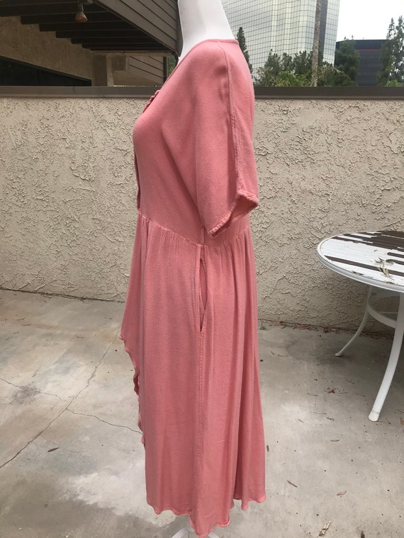 Laise Adzer Pink Boho 1980's Dress - image 4