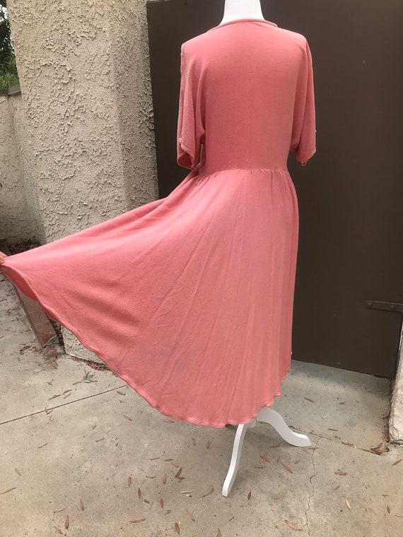 Laise Adzer Pink Boho 1980's Dress - image 6