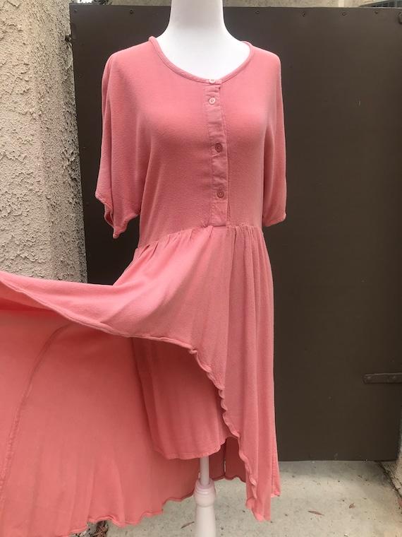 Laise Adzer Pink Boho 1980's Dress - image 3