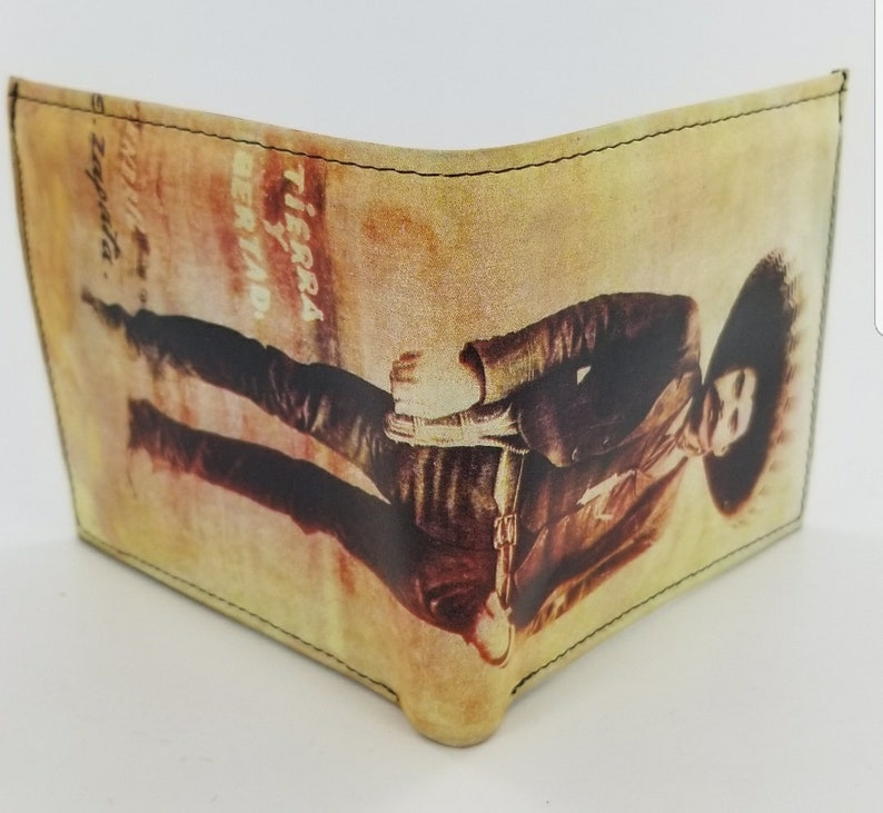Genuine Handcrafted Zapata Leather Wallet.Mens Accessories.Fully Laserprinted