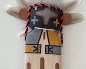 Hopi Blue Star Katsina flat doll