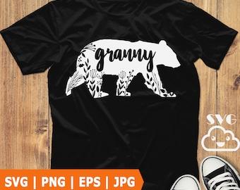 Grandma SVG Grandma Design Grandmother Design grandma silhouette dxf eps png Nana SVG Grandma Bear SVG cute grandma download