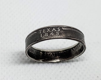 2004 Texas United States Quarter Dollar Coin Ring Size 10