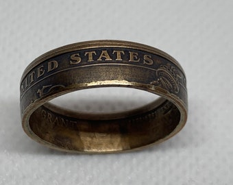 Ulysses S. Grant 1 Dollar  coin ring. Currently sized at 9 3/4.