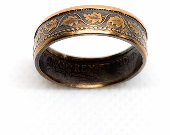 Canadian One Cent Coin Ring Size 7 1/2