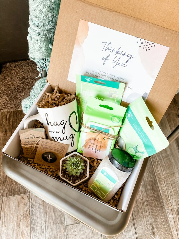 Thinking of You Box (wellness edition) • You are loved • Friendship Box •Caring Box • Live Succulent • Spa Kit