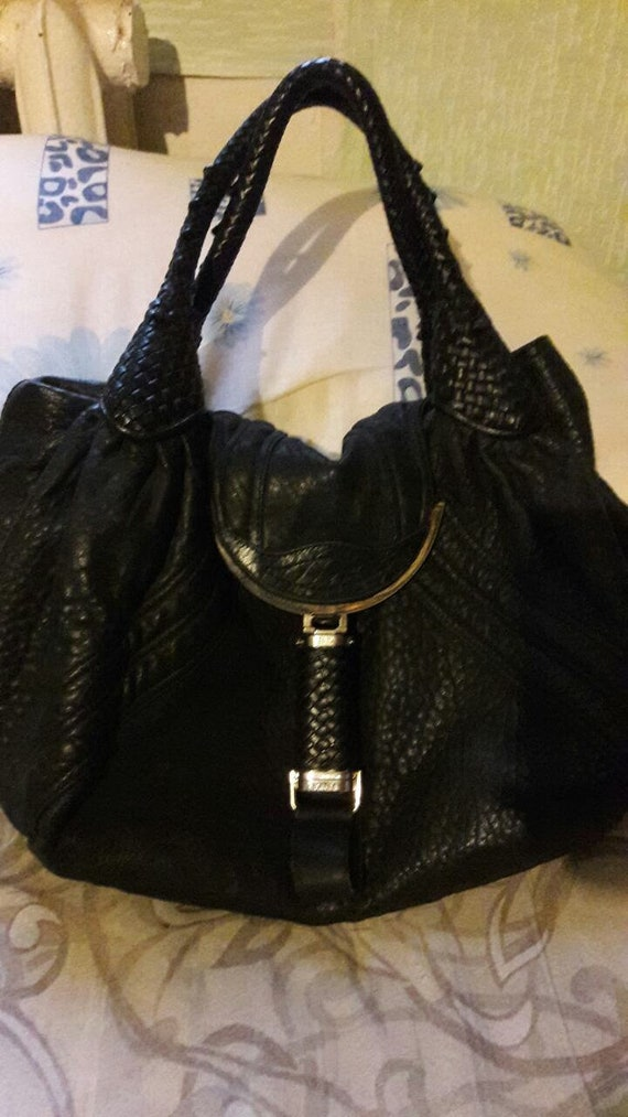 Vintage leather designer handbag