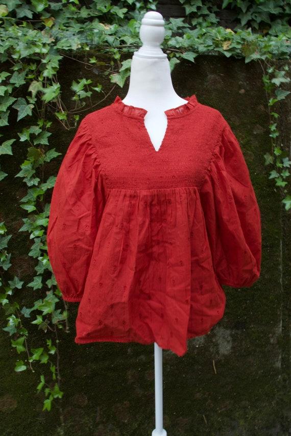 Victorian Puff Sleeve Blouse