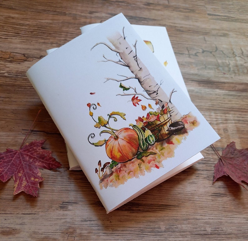 Autumn notebook A6 stationery autumn winter notebook image 0