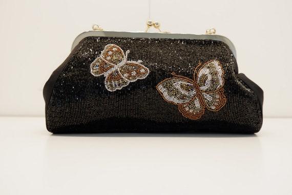 Beaded butterfly bag