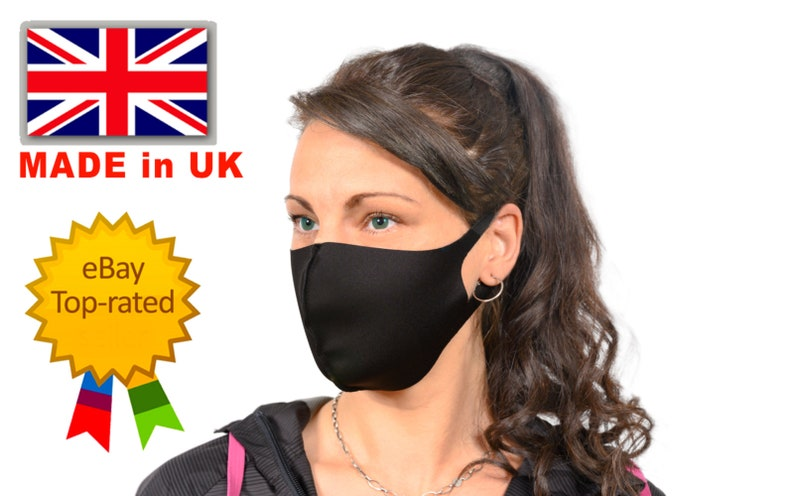 Washable Reusable Face Mask Made By Ventiprene Fast And Free Etsy