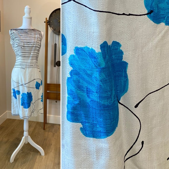 1960s Rappi painted dress • Medium
