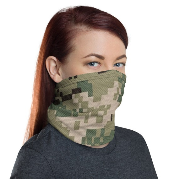 Navy Nwu Face Mask Green Digital Camo Mask Nwu Type 3 Etsy