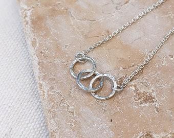 Triple Loop Bracelet, Sterling Silver