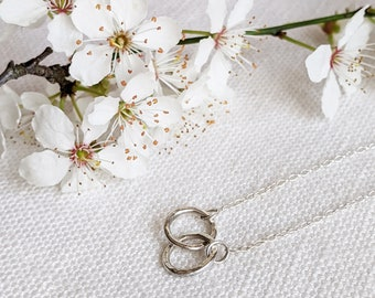 Hammered Mini Circle Sterling Silver Pendant