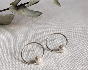 Sterling Silver Earrings with Luxe Beads