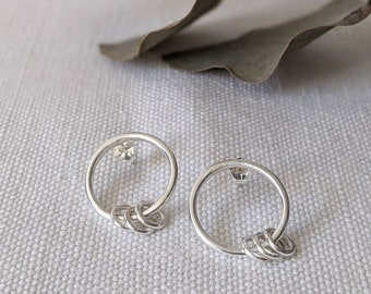Sterling Silver Mini Ring Hoops