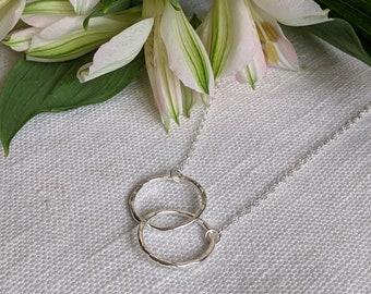 Interlocked Circle Pendant, Sterling Silver