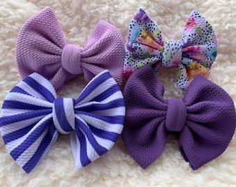 Baby Purple Bow Purple Easter Bow Purple Baby Headband Newborn Headband Purple Hair Bow Easter Hair Bow Mini Light Purple Bow