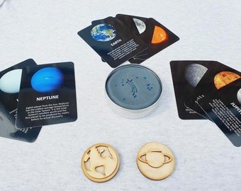 Playdough Space Bundle - Activity Box - Flashcards - Stampers - Preschool STEM