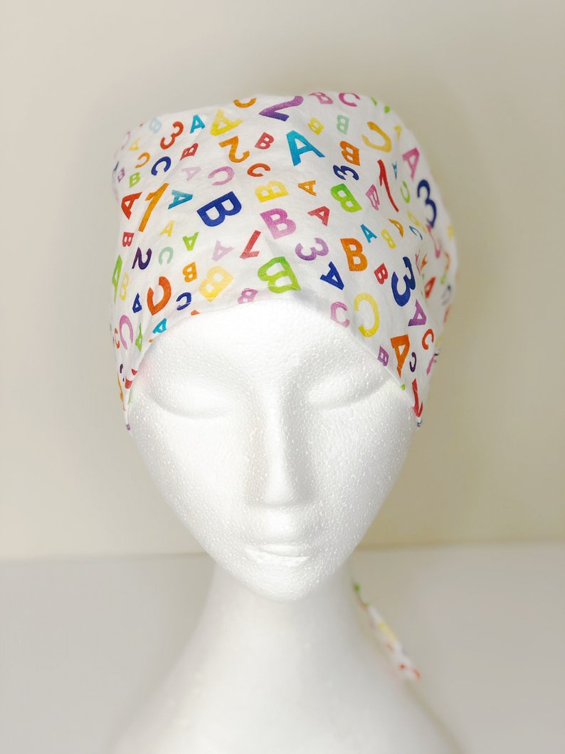 scrub hat alphabet scrub hat cotton scrub hat scrub hat for doctors Scrub cap scrub hat for nurses surgical cap scrub hat for women