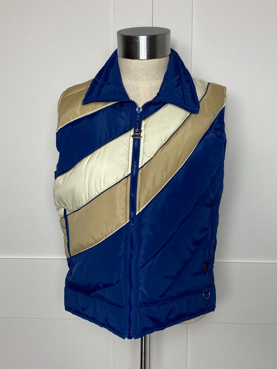 Vintage 70s, 80s Antler Down Puffy Vest Rare Style