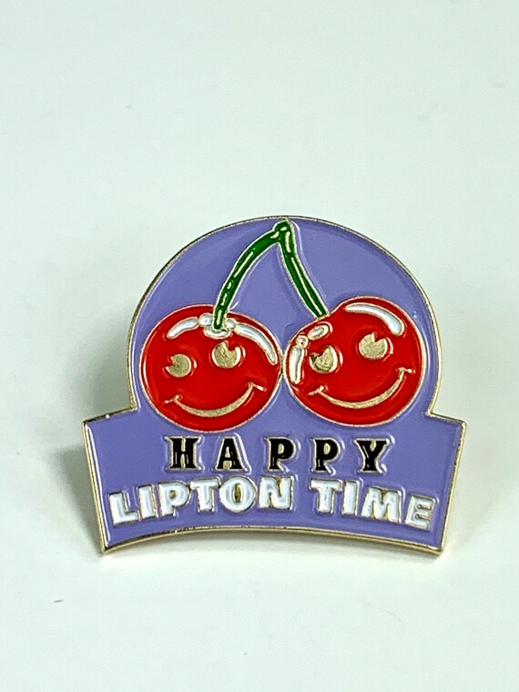 Vintage Happy Lipton Time Pin