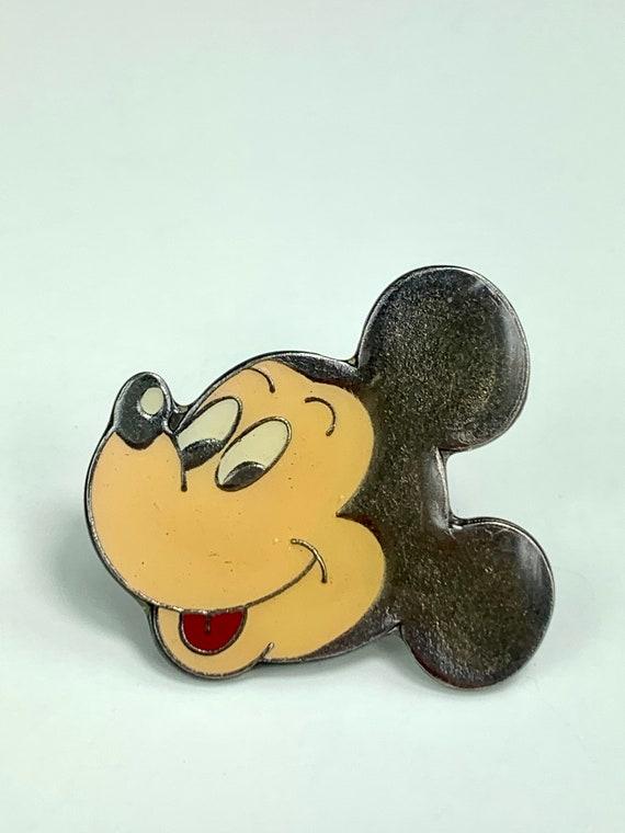 Mickey mouse 1970/'s  metal enamel pin roamingtherange