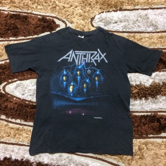 Vintage Anthrax Persistence of Time Tour Tees 1990
