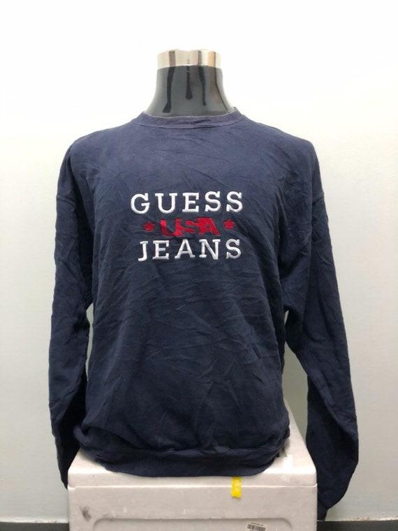 Vintage Guess Usa Jeans Embroidery Big Logo Sweats