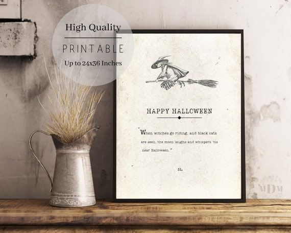 Shop Happy Halloween PrintableBook Page PrintHalloween | Etsy from Etsy on Openhaus