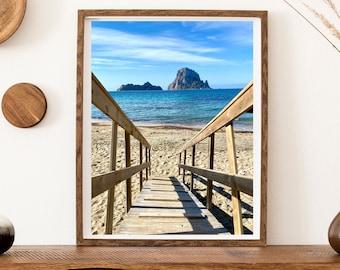 Stairway to Es Vedra Printing | Beach Print | Landscape Photography | Paradise Printing | Ibiza Print | Coastline Print | Modern Wall Art
