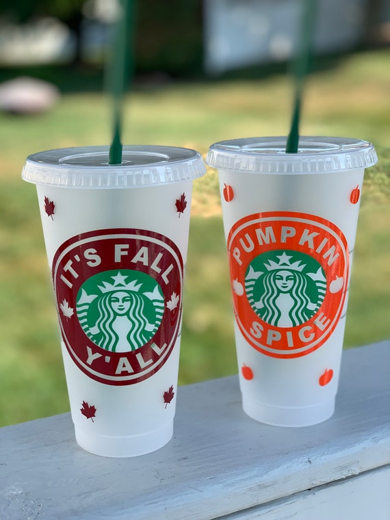 Starbucks It S Fall Y All Pumpkin Spice Svg Cut File Etsy