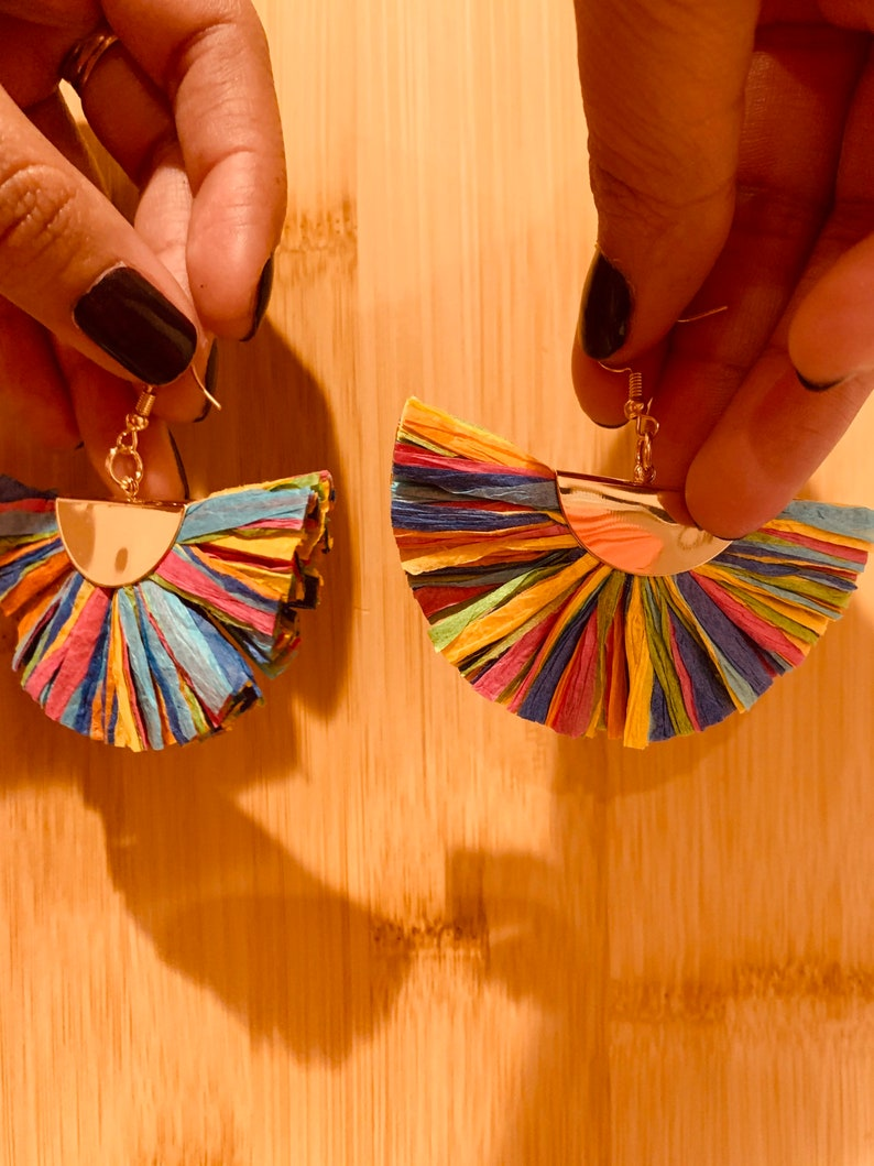 Dangled boho paper earrings