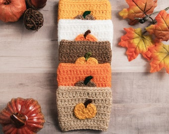 Crochet Cozy Cup Sleeve - Fall Collection - Pumpkin, Coffee Cup Cozy Sleeve, Mason Jar Cozy Sleeve