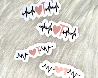 QRS <3 T Stickers