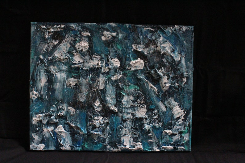 Rough Seas Textured Painting