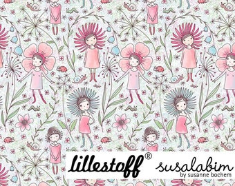 Susalabim Flower Girl Organic Jersey Lillestoff
