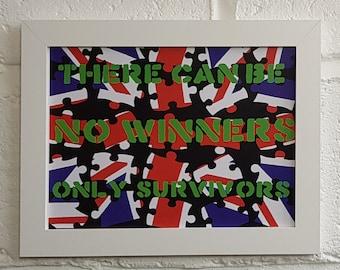 No Winners A4 Art Print