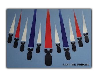 British Bombs A3 Art Print