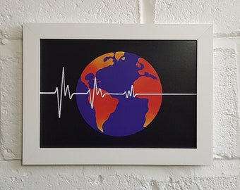 Flatline Earth Society A4 Art Print