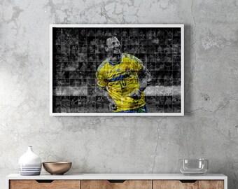 posters poster Zlatan Ibrahimovic wall art prints print Sweden gift