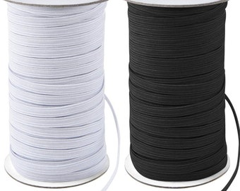 Metres White Elastic Cord 6 mm round sold in lengths of 2,3,4,5