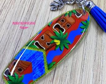 Daytona Florida Surfer Beautiful Metallic Gold Thread Iron-on Embroidered Clothing Patch Travel Souvenir Trip Gift Scrapbook Keepsake