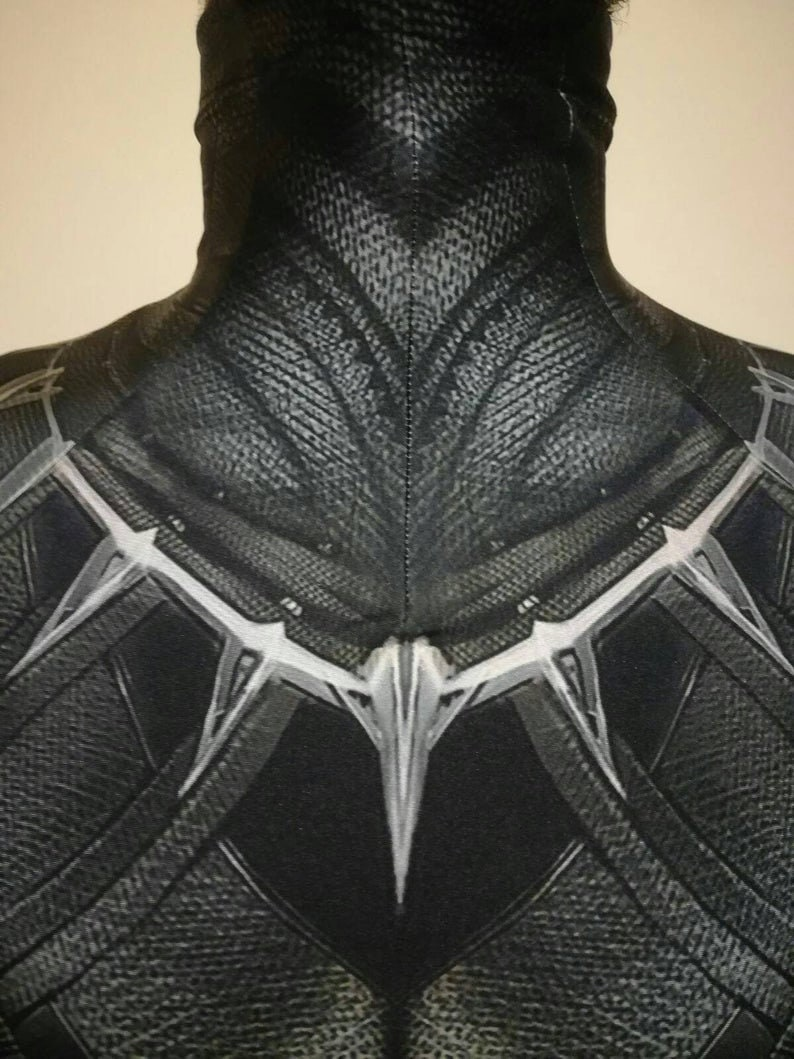 Civil War /' Replica costume /' Black Panther READ DESCRIPTION printed on Lycra with 3d effect