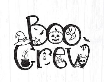 Boo Crew svg, Group Halloween Matching T-shirt png, Cute Fall DIY Design for Kids, Teachers, Girl Best Friends Costume, Cricut, Silhouette