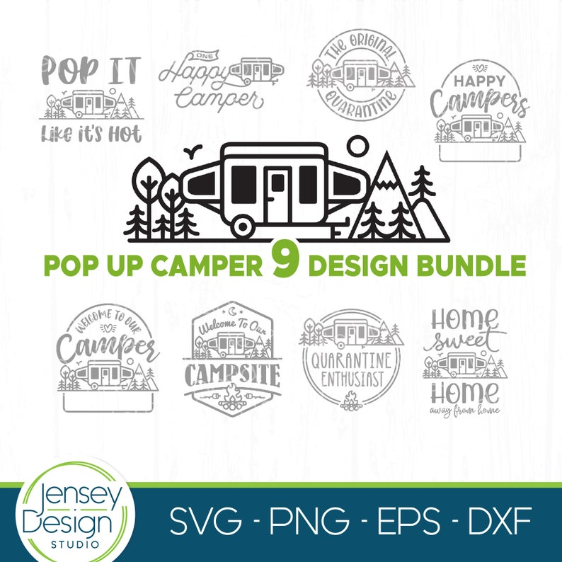 RV Camp Tshirt Designs On Sale Instant Download Pop Up Camper SVG Bundle Popup Travel Trailer PNG Camping Bucket Cut Files for Cricut