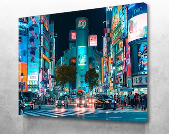 TOKYO CITY MARKET    PICTURE PRINT ON FRAMED CANVAS WALL ART DECORATIVE