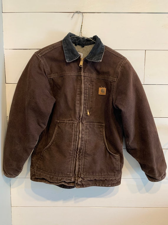 Youth Large Carhartt Fleece Lined Jacket