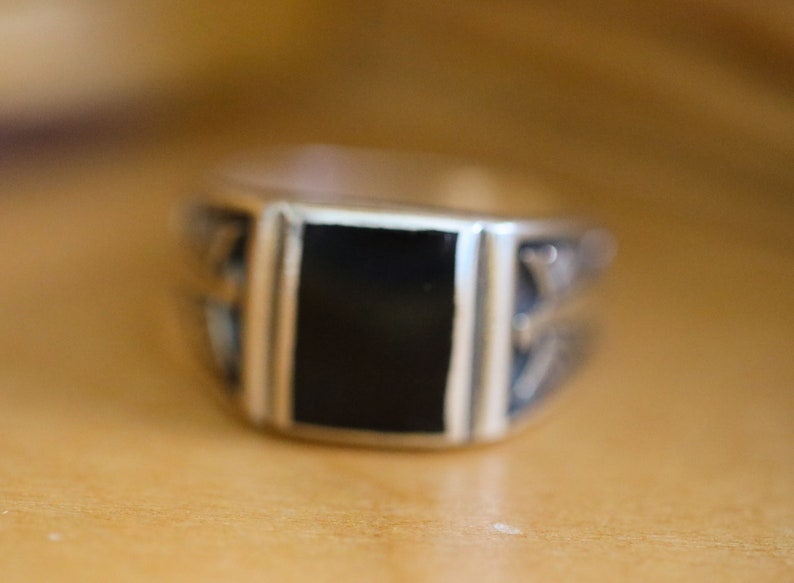 oxidized silver ring Black onyx ring Solid 925 sterling silver ring man ring onyx eagle ring boho silver ring black onyx silver ring